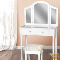 Style 1 fehér fésülködőasztal, sminkasztal
