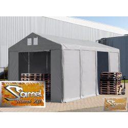 PROFI prémium rendezvénysátor PVC 500g/m2 6x12 m, 2 m magas fehér