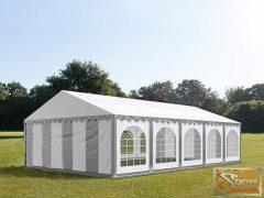 PROFI economy rendezvénysátor PVC 500g/m2  6x10m szürke-fehér