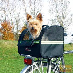Vid 35x28x29 cm fekete kutyaszállító kerékpárhoz