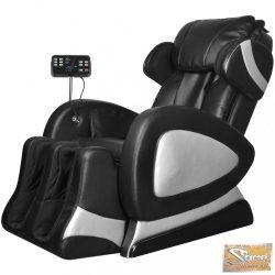 Vid elektromos fekete műbőr masszázs szék képernyővel