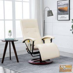 Vid fehér elektromos masszázs tv fotel